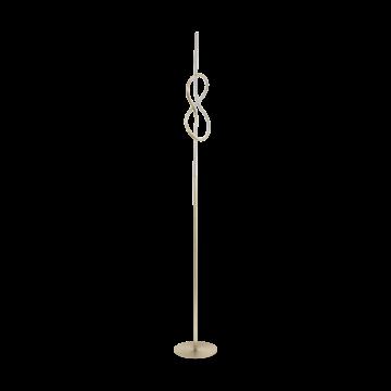 Светодиодный торшер Eglo Novafeltria 97942, LED 13W 3000K 1300lm, никель, металл, металл с пластиком, пластик