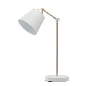Настольная лампа MW-Light Таун 691032001, белый, матовое золото, металл