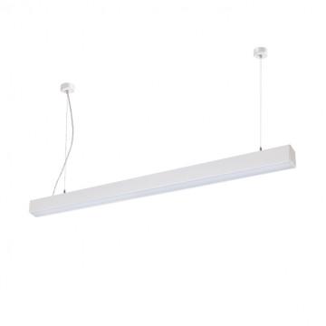 Потолочно-подвесной светодиодный светильник Novotech Iter 358052, LED 20W 4000K 1462lm, белый, металл, пластик