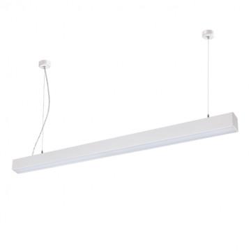 Потолочно-подвесной светодиодный светильник Novotech Iter 358053, LED 30W 4000K 2193lm, белый, металл, пластик