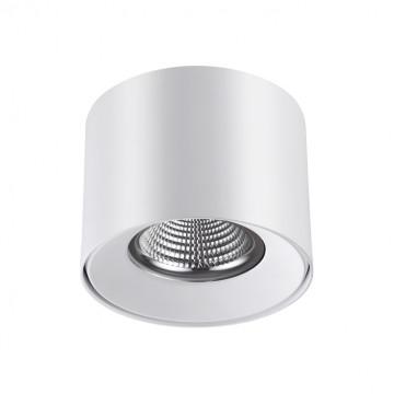 Потолочный светодиодный светильник Novotech Over Recte 357955, LED 10W 4000K 720lm, белый, металл