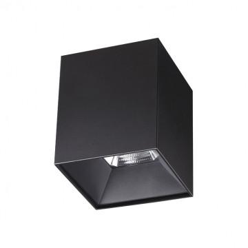 Потолочный светодиодный светильник Novotech Over Recte 357959, LED 10W 4000K 720lm, черный, металл