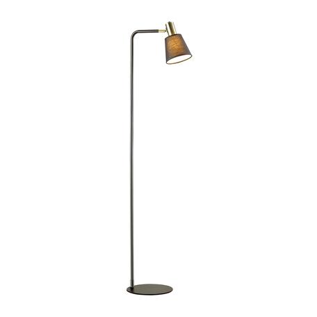Торшер Lumion Moderni Marcus 3638/1F, 1xE14x60W, черный, металл, текстиль