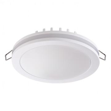 Встраиваемая светодиодная панель Novotech Klar 357963, LED 18W 4000K 980lm, белый, металл с пластиком, пластик