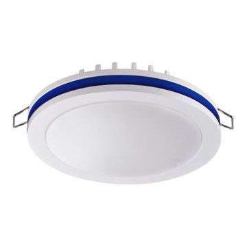 Встраиваемая светодиодная панель Novotech Klar 357964, LED 18W 4000K 980lm, белый, синий, металл с пластиком, пластик