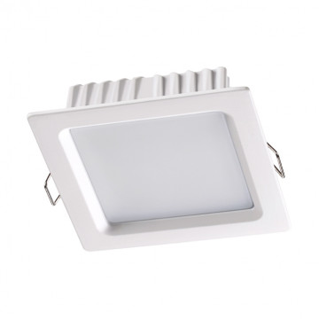 Встраиваемая светодиодная панель Novotech Luna 358032, LED 7W 4100K 420lm, белый, металл с пластиком, пластик