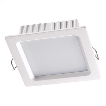 Встраиваемая светодиодная панель Novotech Luna 358033, LED 12W 4100K 960lm, белый, металл с пластиком, пластик