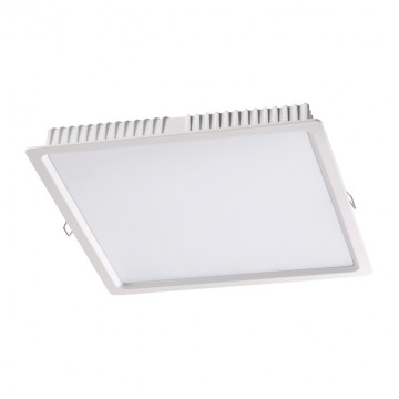 Встраиваемая светодиодная панель Novotech Luna 358034, LED 20W 4100K 994lm, белый, металл с пластиком, пластик