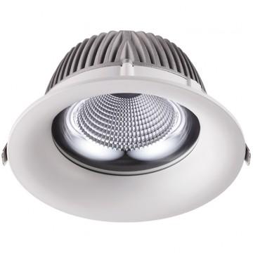 Встраиваемый светодиодный светильник Novotech Glok 358027 4100K (холодный), белый, металл