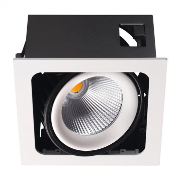 Встраиваемый светодиодный светильник Novotech Spot Gesso 358037, LED 32W 3000K 2944lm, белый, черно-белый, металл