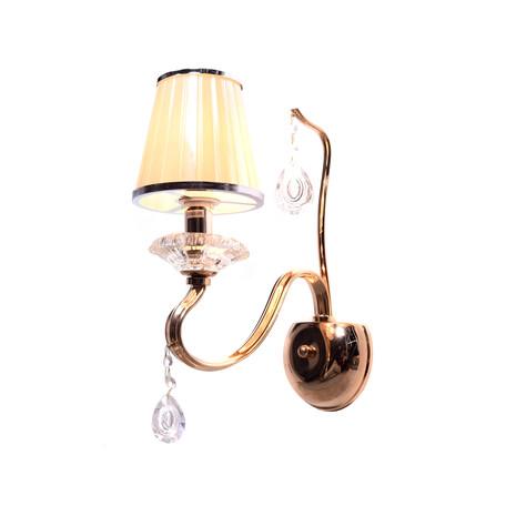 Бра Lumina Deco Finezzia LDW 9267-1 GD, 1xE14x40W, бежевый с золотом, прозрачный, пластик, хрусталь