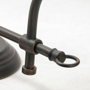 Бра Lussole Loft Milazzo LSL-2901-01, IP21, 1xE14x40W, черный, белый, металл, текстиль - миниатюра 4
