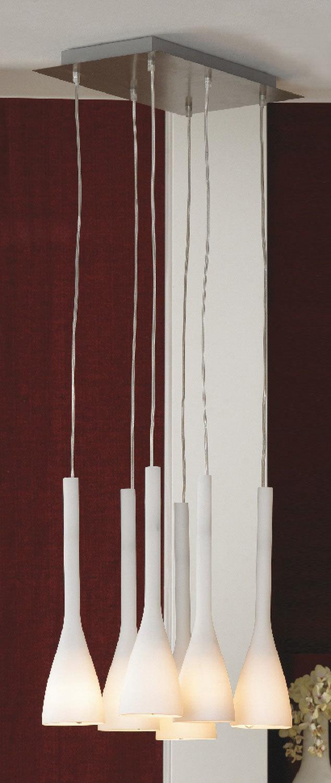Люстра-каскад Lussole Loft Varmo LSN-0106-06, IP21, 6xE14x40W, никель, белый, металл, стекло - фото 2