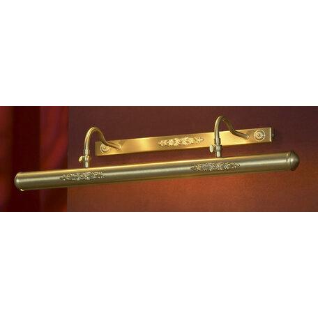 Настенный светильник для подсветки картин Lussole Cantiano LSL-6301-04, IP21, 4xE14x25W, матовое золото, металл - миниатюра 1