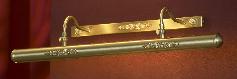 Настенный светильник для подсветки картин Lussole Cantiano LSL-6301-04, IP21, 4xE14x25W, матовое золото, металл - фото 1