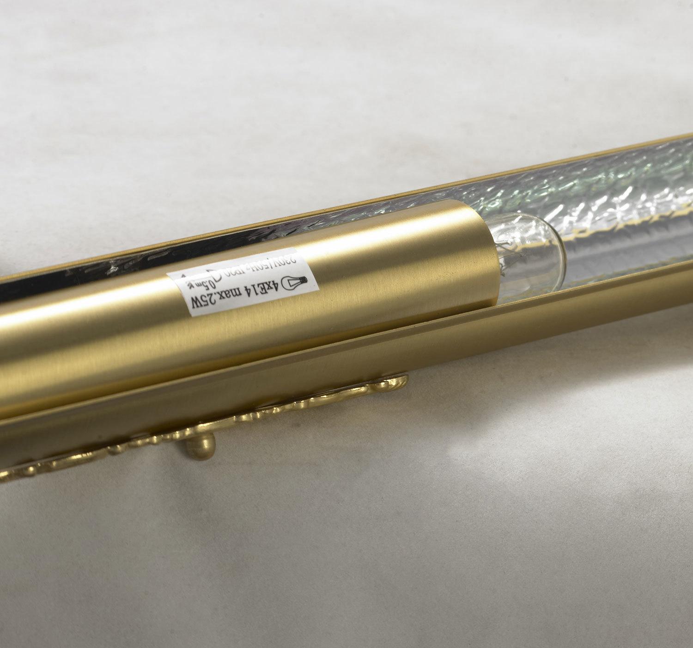 Настенный светильник для подсветки картин Lussole Cantiano LSL-6301-04, IP21, 4xE14x25W, матовое золото, металл - фото 3