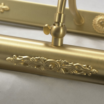 Настенный светильник для подсветки картин Lussole Cantiano LSL-6301-04, IP21, 4xE14x25W, матовое золото, металл - миниатюра 5