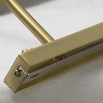 Настенный светильник для подсветки картин Lussole Cantiano LSL-6301-04, IP21, 4xE14x25W, матовое золото, металл - миниатюра 7