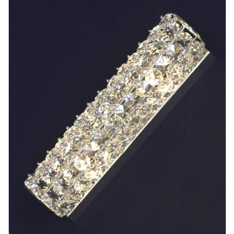 Настенный светильник Lussole Loft Stintino LSL-8701-02, IP21, 2xG9x40W, хром, прозрачный, металл, стекло