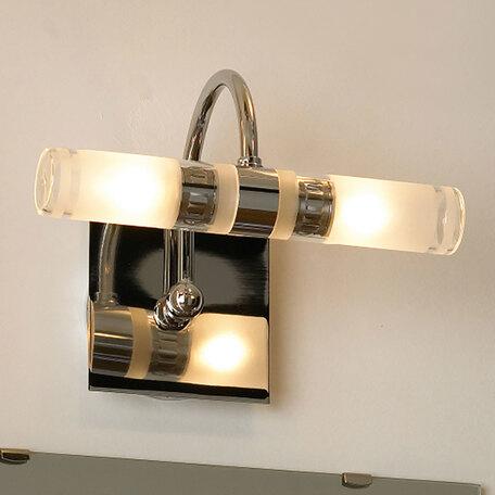 Настенный светильник Lussole Aqua LSL-5411-02, IP44, 2xG9x40W, хром, белый, металл, стекло