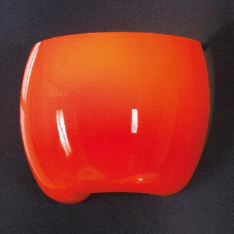 Настенный светильник Lussole Mela LSN-0211-01, IP21, 1xE14x40W, хром, оранжевый, металл, стекло