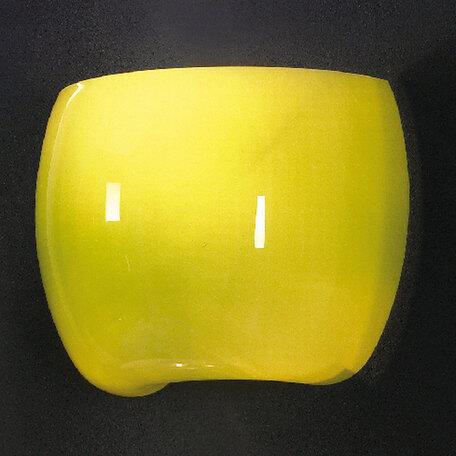 Настенный светильник Lussole Mela LSN-0221-01, IP21, 1xE14x40W, хром, зеленый, металл, стекло