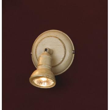 Настенный светильник с регулировкой направления света Lussole Loft Sobretta LSL-2501-01, IP21, 1xGU10x50W, бежевый, металл