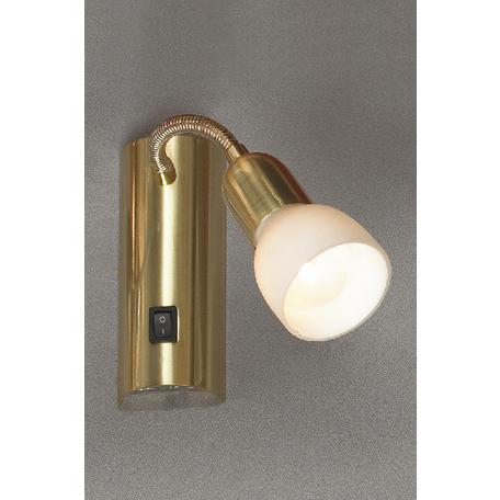 Настенный светильник Lussole Loft Barete LSL-7790-01, 1xE14x40W, матовое золото, белый, металл, стекло