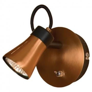Настенный светильник с регулировкой направления света Lussole Forli LSL-6801-01, 1xGU10x50W, медь, металл