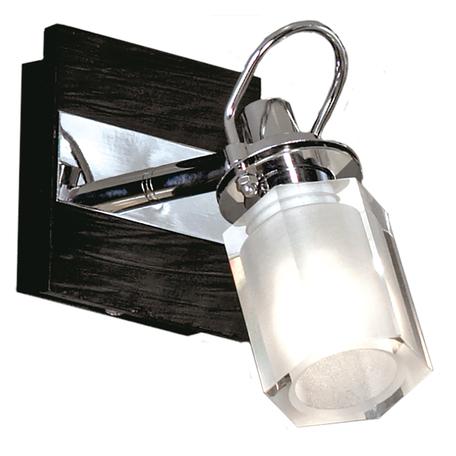 Настенный светильник с регулировкой направления света Lussole Abruzzi LSL-7901-01, IP21, 1xG9x40W, черный, белый, металл с пластиком, стекло
