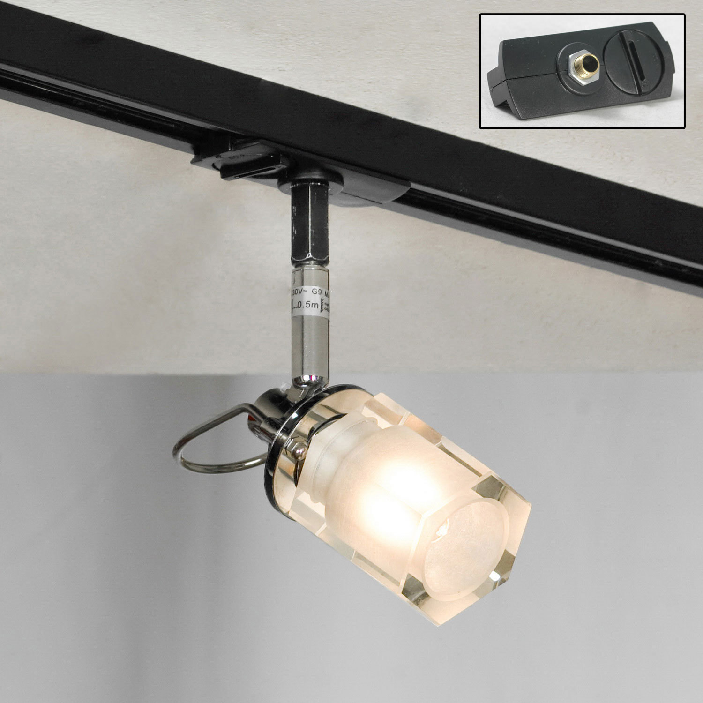 Настенный светильник с регулировкой направления света Lussole Abruzzi LSL-7901-01, IP21, 1xG9x40W, черный, белый, металл с пластиком, стекло - фото 2