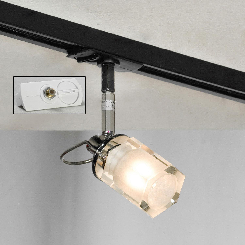 Настенный светильник с регулировкой направления света Lussole Abruzzi LSL-7901-01, IP21, 1xG9x40W, черный, белый, металл с пластиком, стекло - фото 3