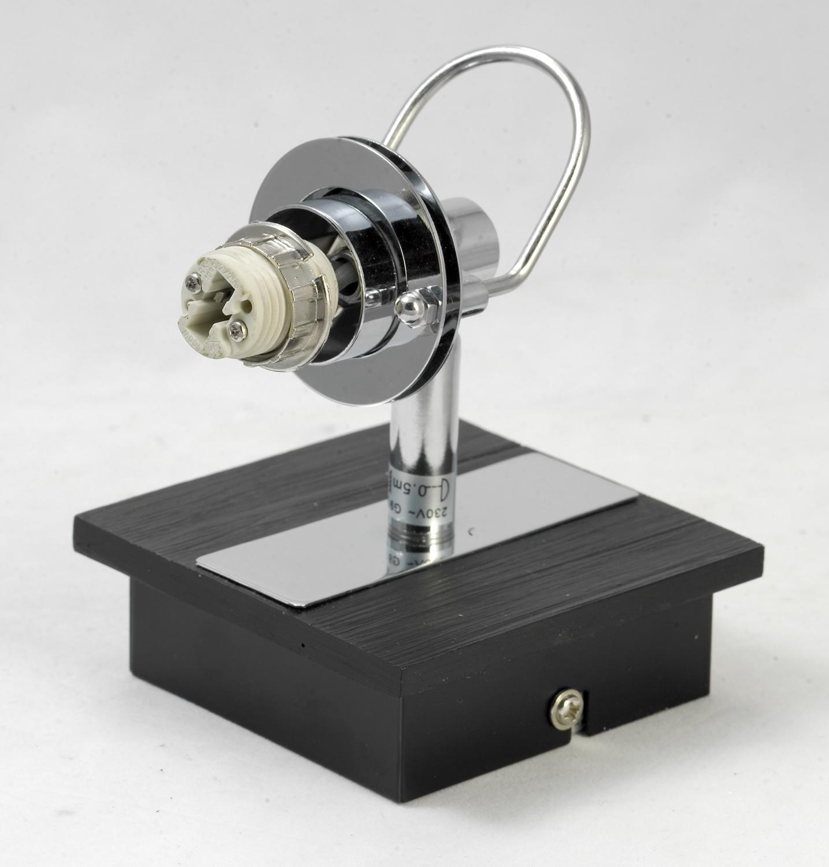 Настенный светильник с регулировкой направления света Lussole Abruzzi LSL-7901-01, IP21, 1xG9x40W, черный, белый, металл с пластиком, стекло - фото 5