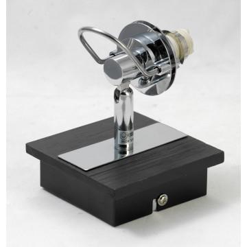 Настенный светильник с регулировкой направления света Lussole Abruzzi LSL-7901-01, IP21, 1xG9x40W, черный, белый, металл с пластиком, стекло - миниатюра 6