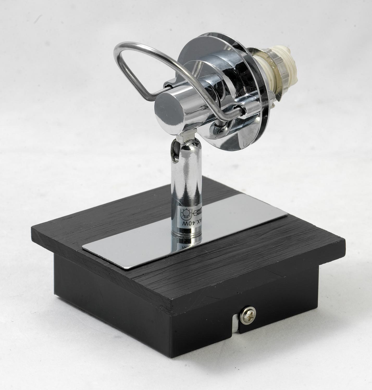 Настенный светильник с регулировкой направления света Lussole Abruzzi LSL-7901-01, IP21, 1xG9x40W, черный, белый, металл с пластиком, стекло - фото 6