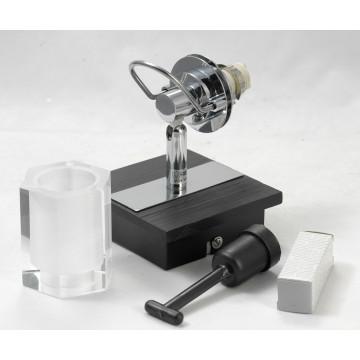 Настенный светильник с регулировкой направления света Lussole Abruzzi LSL-7901-01, IP21, 1xG9x40W, черный, белый, металл с пластиком, стекло - миниатюра 7