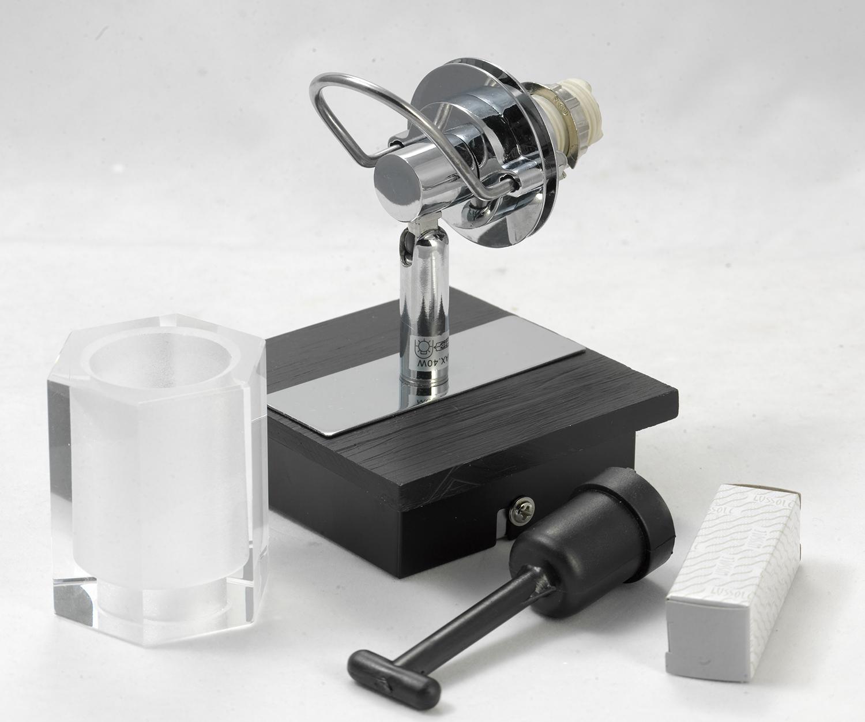 Настенный светильник с регулировкой направления света Lussole Abruzzi LSL-7901-01, IP21, 1xG9x40W, черный, белый, металл с пластиком, стекло - фото 7
