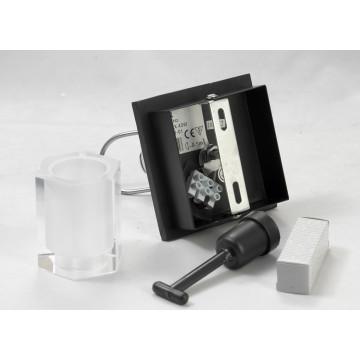Настенный светильник с регулировкой направления света Lussole Abruzzi LSL-7901-01, IP21, 1xG9x40W, черный, белый, металл с пластиком, стекло - миниатюра 8