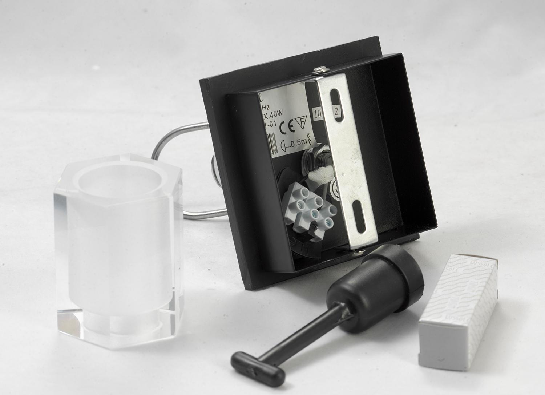 Настенный светильник с регулировкой направления света Lussole Abruzzi LSL-7901-01, IP21, 1xG9x40W, черный, белый, металл с пластиком, стекло - фото 8