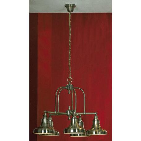 Подвесная люстра Lussole Loft Sona LSL-3003-05, IP21, 5xE27x60W, бронза, металл - миниатюра 1