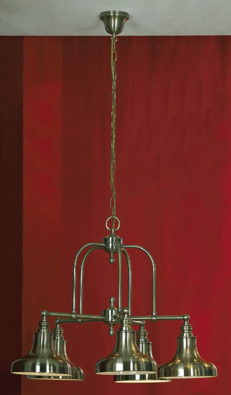 Подвесная люстра Lussole Loft Sona LSL-3003-05, IP21, 5xE27x60W, бронза, металл - фото 2