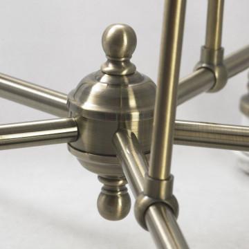 Подвесная люстра Lussole Loft Sona LSL-3003-05, IP21, 5xE27x60W, бронза, металл - миниатюра 6