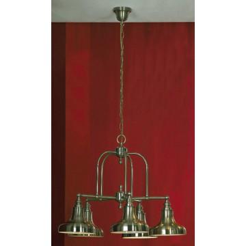 Подвесная люстра Lussole Loft Sona LSL-3003-05, IP21, 5xE27x60W, бронза, металл