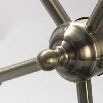 Подвесная люстра Lussole Loft Sona LSL-3003-05, IP21, 5xE27x60W, бронза, металл - миниатюра 3