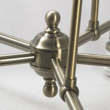 Подвесная люстра Lussole Loft Sona LSL-3003-05, IP21, 5xE27x60W, бронза, металл - миниатюра 5