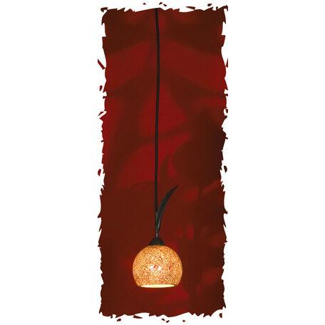 Подвесной светильник Lussole Loft Bagheria LSF-6206-01, IP21, 1xE14x40W, коричневый, оранжевый, металл, стекло