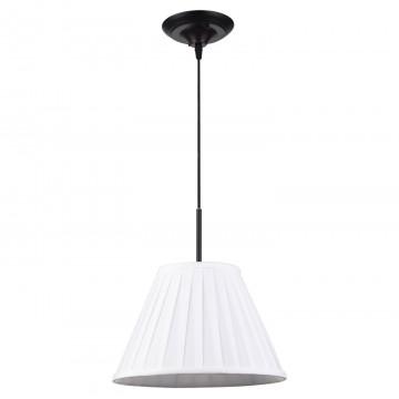 Подвесной светильник Lussole Loft Milazzo LSL-2906-01, IP21, 1xE27x60W, черный, белый, металл, текстиль
