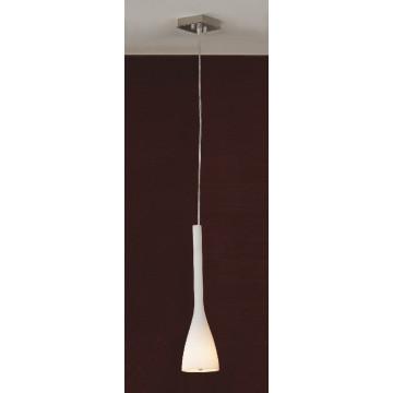 Подвесной светильник Lussole Loft Varmo LSN-0106-01, IP21, 1xE14x40W, никель, белый, металл, стекло