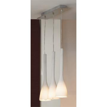 Подвесной светильник Lussole Loft Varmo LSN-0106-03, IP21, 3xE14x40W, никель, белый, металл, стекло
