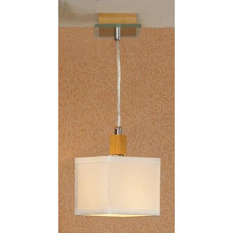 Подвесной светильник Lussole Montone LSF-2506-01, IP21, 1xE14x40W, коричневый, белый, дерево, стекло, текстиль